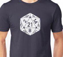 21 Sided 21st Birthday D20 Fantasy Gamer Die Unisex T-Shirt