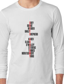 greys anatomy Long Sleeve T-Shirt