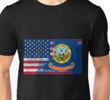 Idaho American Flag Fusion Unisex T-Shirt