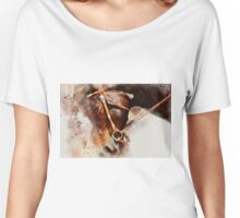Horse Head in Bridle Women's Relaxed Fit T-Shirt