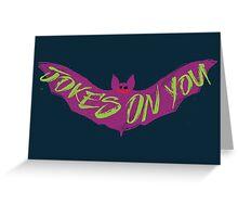 The Joking Bat Greeting Card