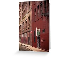 New York Alley Greeting Card