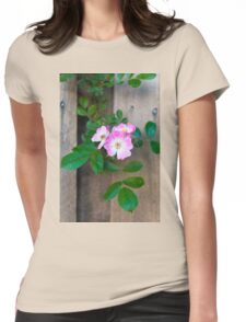 Fence Flower Womens Fitted T-Shirt
