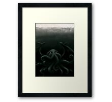 Cthulhu waits, dreaming Framed Print