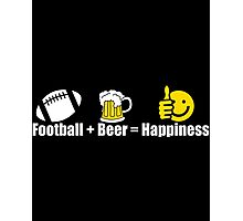 FOOTBALL BEER HAPPINESS Photographic Print