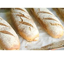 Freshly baked bread in a bakery  Photographic Print