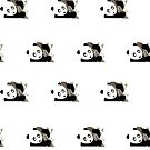 Panda in the tree (Pattern) by Adamzworld