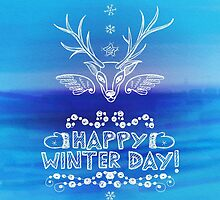 Happy Winter Day by Patternalized