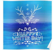 Happy Winter Day Poster
