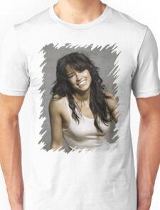 Zeman Michelle Rodriguez - Celebrity (Oil Paint Art) Unisex T-Shirt