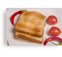 two slices of toast for breakfast  Metal Print