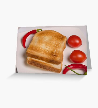 two slices of toast for breakfast  Greeting Card