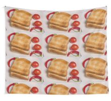 two slices of toast for breakfast  Wall Tapestry