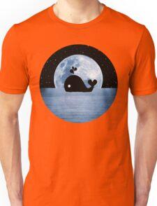 Whale Night Swim - Blue Unisex T-Shirt