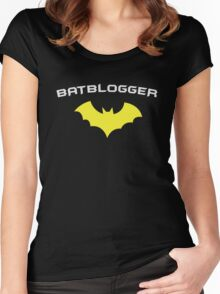 BATBLOGGER - Super Hero WRITER AUTHOR BLOGGER  Women's Fitted Scoop T-Shirt