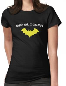 BATBLOGGER - Super Hero WRITER AUTHOR BLOGGER  Womens Fitted T-Shirt