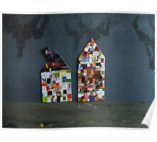 Two whimsical houses Poster