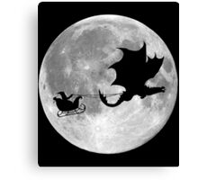 Santa Claus Dragon Rider Sleigh Ride Canvas Print