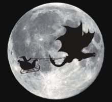 Santa Claus Dragon Rider Sleigh Ride by TheShirtYurt