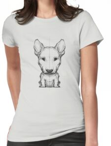 Bull Terrier Pencil Sketch Womens Fitted T-Shirt