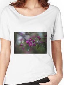 Dark purple flowers on a tree Women's Relaxed Fit T-Shirt
