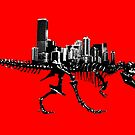 T Rex Cityscape by monsterplanet