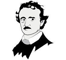 Edgar Allan Poe Illustration Photographic Print