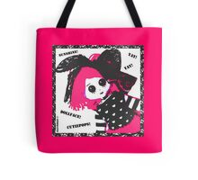 Pink Dollface Cutiepops Tote Bag