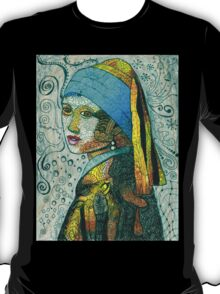 "Inspired by Vermeer's Painting of ""The Girl with the Pearl Earring"" T-Shirt"