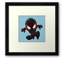 Spiderman in Black Framed Print