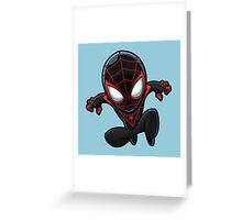 Spiderman in Black Greeting Card