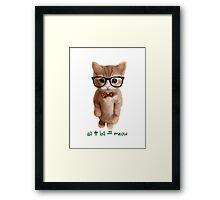 Algebra CAT Framed Print