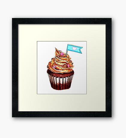 Colourful cupcake Framed Print