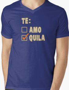 Te Amo Tequila Spanish Choice Mens V-Neck T-Shirt