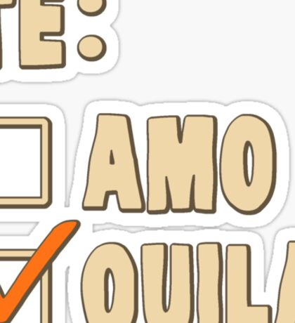 Te Amo Tequila Spanish Choice Sticker