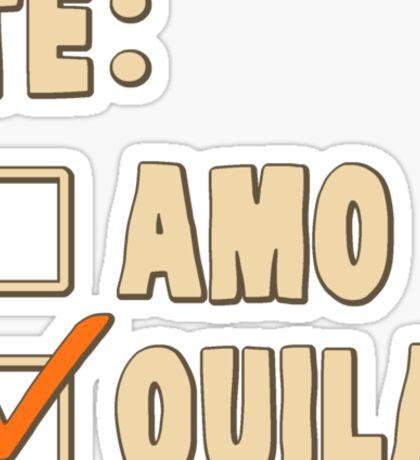 Te Amo Tequila Spanish Choice Sticker