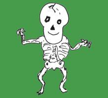 Skeleton Dance One Piece - Short Sleeve