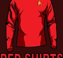 Star Trek - Expendable Red Shirts by EJTees