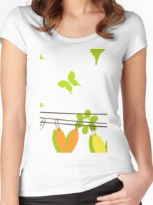 Easter card Women's Fitted Scoop T-Shirt