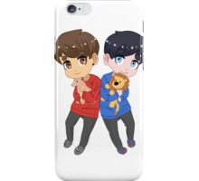 AmazingPhil and Danisnotonfire with Plushes iPhone Case/Skin