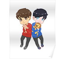 AmazingPhil and Danisnotonfire with Plushes Poster