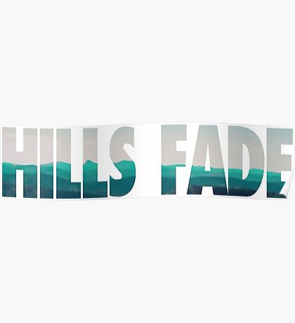 Typography Hills Fade Poster
