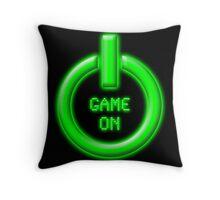 Game On - Power Button Throw Pillow