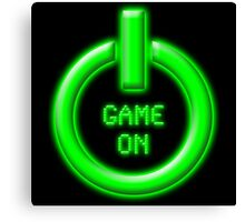 Game On - Power Button Canvas Print