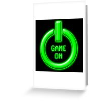 Game On - Power Button Greeting Card