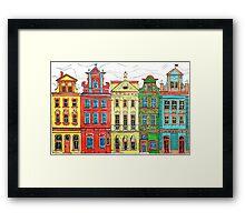 Rainbow's houses  Framed Print