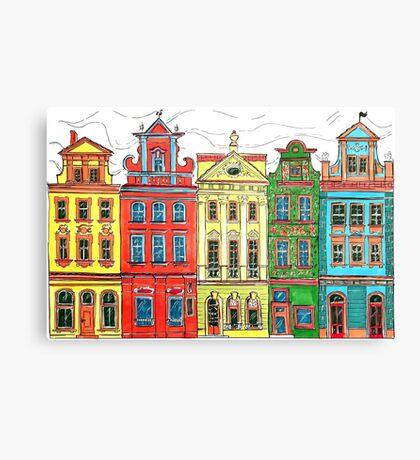 Rainbow's houses  Canvas Print