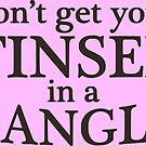 Dont get your tinsel in a tangle - Christmas funny quote - transparent background by Sandra O'Connor
