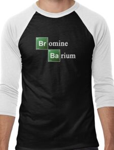 Bromine and Barium Periodic Table Chemistry Elements Men's Baseball ¾ T-Shirt