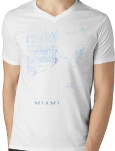Miami, Retro special edition Mens V-Neck T-Shirt